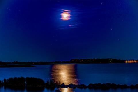 Mondfinsternis auf Rügen