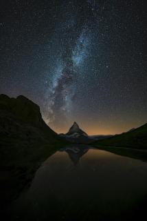 Matterhorn Milchstrasse und Spiegelung