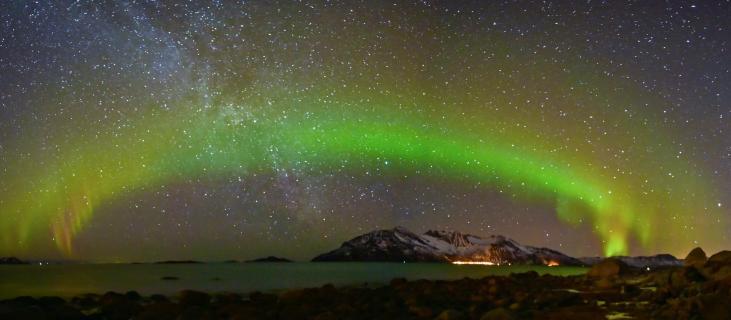 Nordlichtbogen-Tromsö