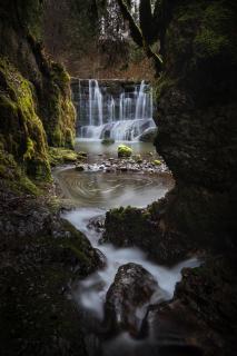 Allgäuer Wasserfall im Winter