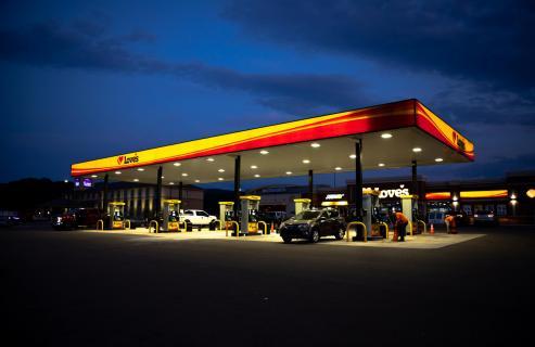 Tankstelle in Amerika