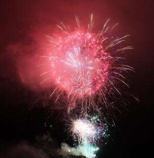 Feuerwerk zum Grenzgang