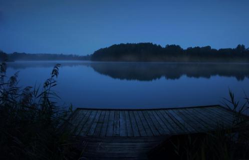 Jastorfer See zur blauen Stunde