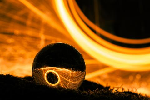 Lensball fire