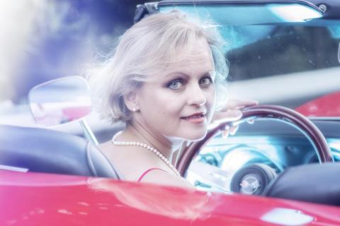 Corvette Lady