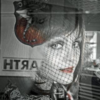 Portrait im Auto