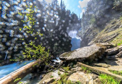 Bear Creek Wasserfall vor Golden, Kanada