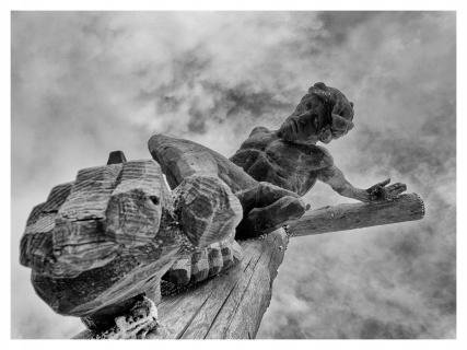 Christus-Statue in Südtirol
