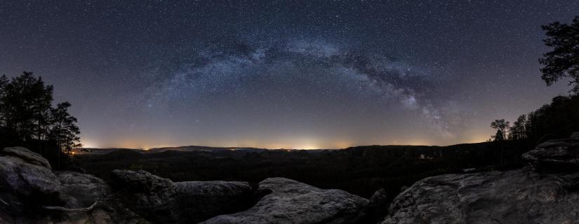 Die Milchstraße vom Kleinen Winterberg