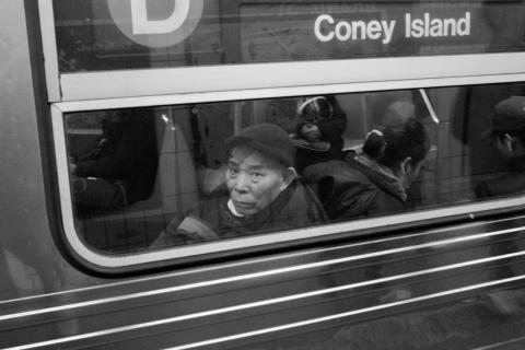 Sein Weg nach Coney Island