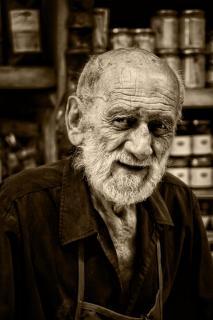 Weißbärtiger Mann aus Cannobio