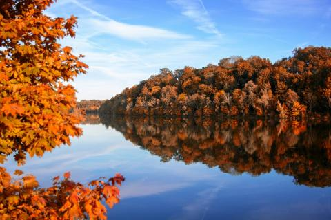 Herbst an der Isar