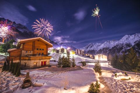 Happy new year in the mountains