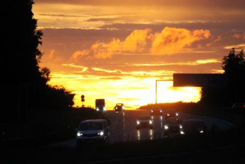 Nachts auf der Autobahn...