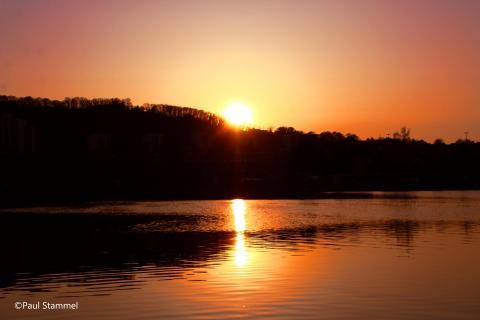 Sonne im Wasser