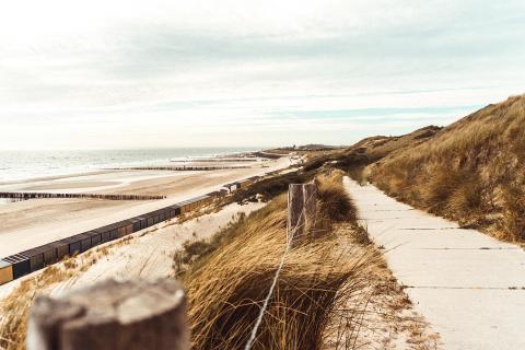 Spaziergang in den Dünen Hollands