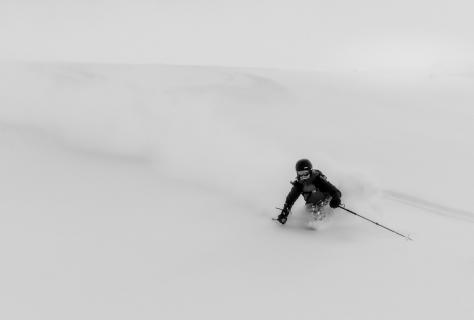 eternal beauty of skiing