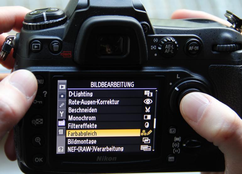 1. Kameramenü aufrufen