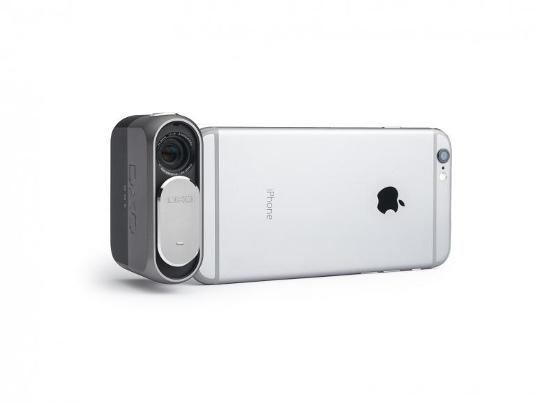 Kamera trifft iPhone: Die DxO ONE wurde speziell für die Nutzung in Kombination mit einem iPhone oder iPad konzipiert.