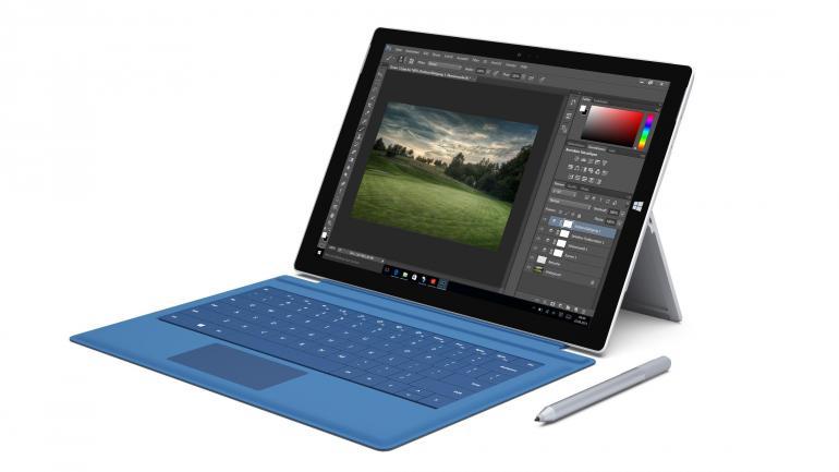Vom Tablet zum Laptop: Mit dem optional erhältlichen Microsoft Type Cover (UVP: 129,99 Euro) kann das Surface Pro 3 innerhalb von Sekunden zum Laptop umgestaltet werden.