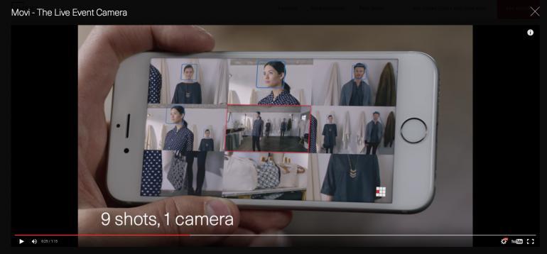 Screenshot aus dem Movi Example-Video von www.getmovi.com
