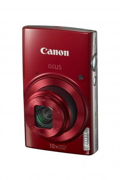 Canons neue IXUS 180 ist in blau, schwarz und rot verfügbar.