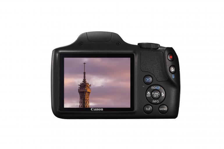 Rückseite der neuen Powershot SX 540 HS von Canon.