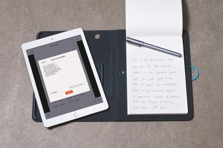 Ab jetzt ist es mit dem Bamboo Spark möglich, handschriftliche Notizen in Textdateien zu konvertieren und in der Cloud abzuspeichern.