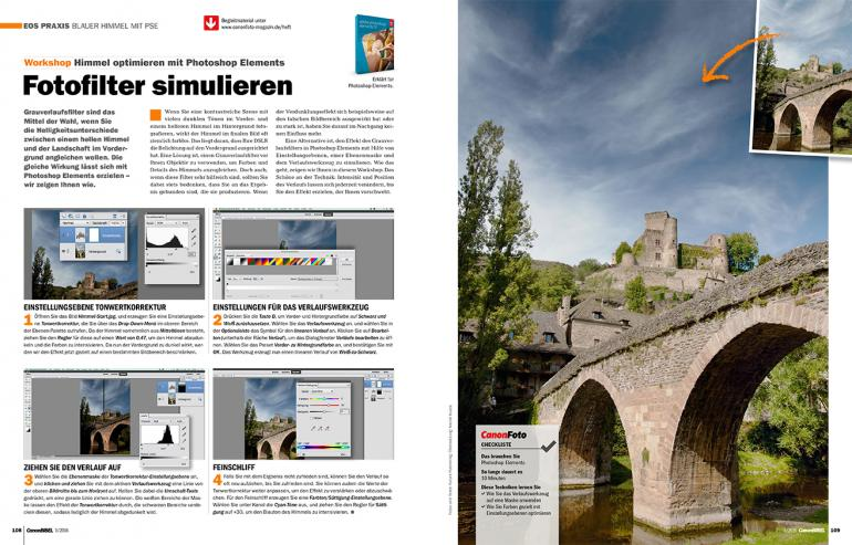Workshop: Himmel optimieren mit Photoshop Elements