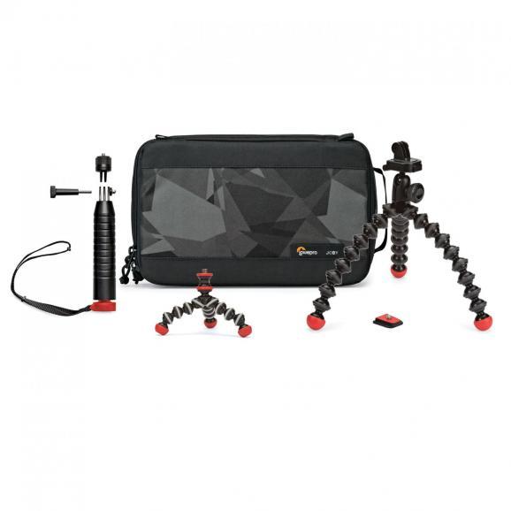 Für Action-Cam-Einsteiger lohnt womöglich ein Blick auf das Action Base Kit (ca. 92 Euro) von Joby, bestehend aus drei Stativen und einer Tasche.