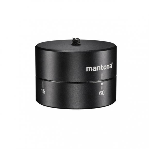 Der Turnaround 360 Stativkopf (ca. 43 Euro) von Mantona ermöglicht Rundumsichten während beispielsweise Zeitrafferaufnahmen.