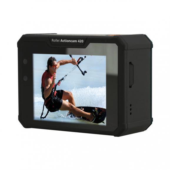 Ein echter Vorteil der Rollei Action-Cam 420 ist der rückseitig starr verbaute Monitor. Dieser schafft einen guten Überblick des Bildausschnitts.