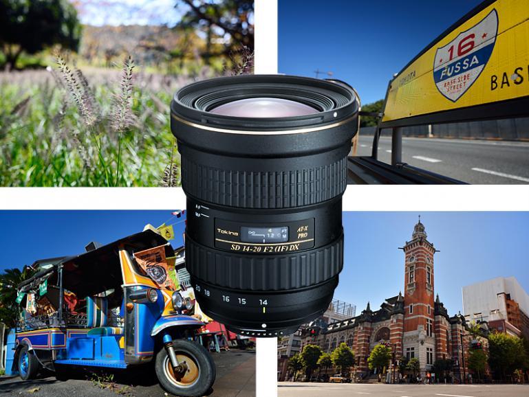 Das neue Tokina AT-X 2/14-20 mm PRO DX Superweitwinkel-Objektiv für Canon- und Nikon-Kameras mit APS-C Sensor.