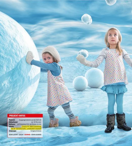 3D-Rendering: Winterzeit, Schneeballzeit!