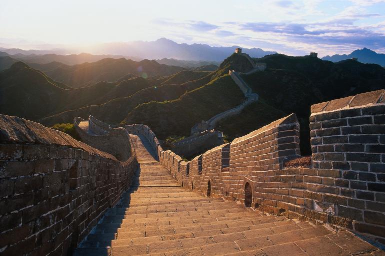 Teil der Chinatour ist unter anderem ein abendliches Shooting an der Chinesischen Mauer.