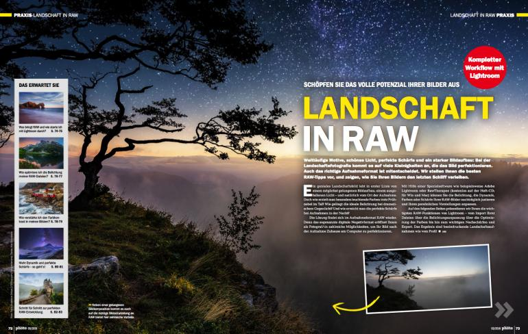 Landschaft in RAW