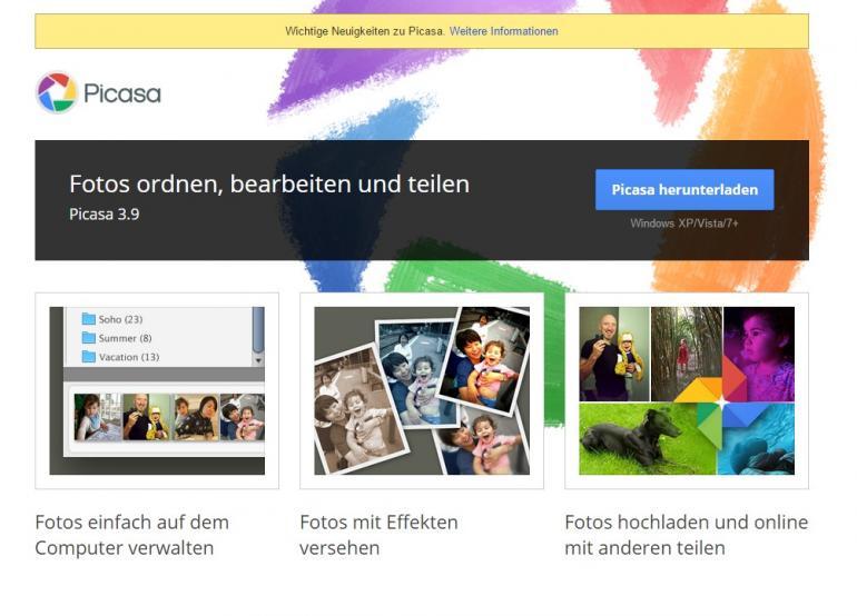 Aus Für Picasa Google Stellt Bilderdienst Um Digitalphoto
