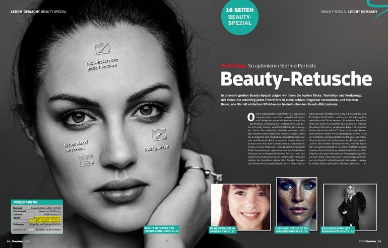 Profi-Tipps zur Beauty-Retusche ab Seite 25