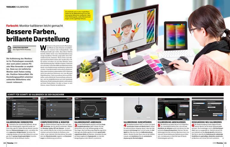 Monitor kalibrie̱ren leicht gemacht –im Heft ab Seite 100