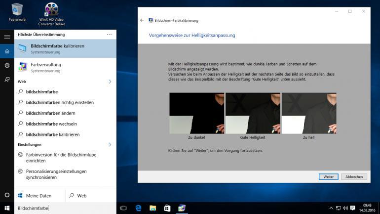 Monitor-Kalibrierung bei Windows