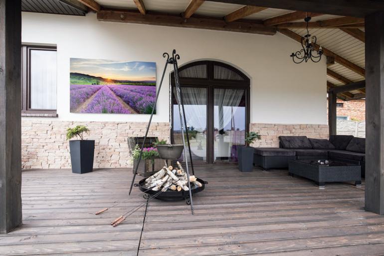 Landschaftsaufnahmen zur Verschönerung der eigenen Veranda.