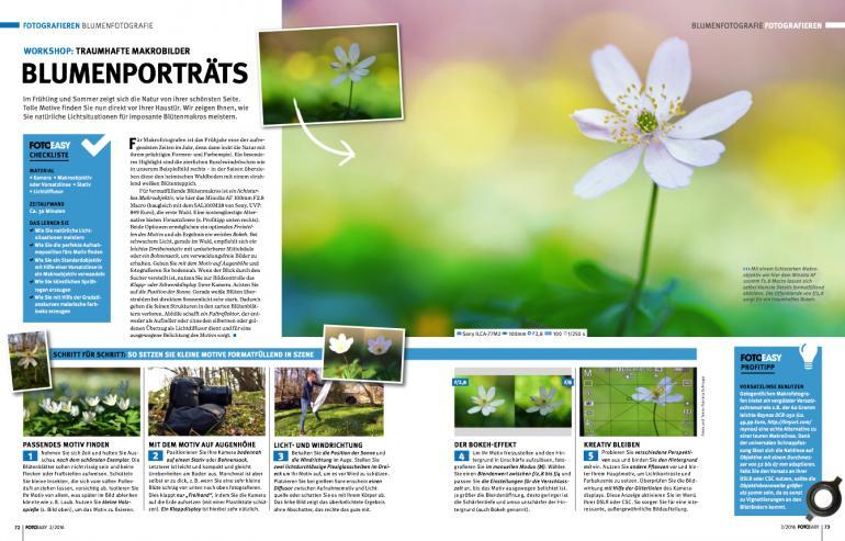 Traumhafte Makrobilder von Blumen.