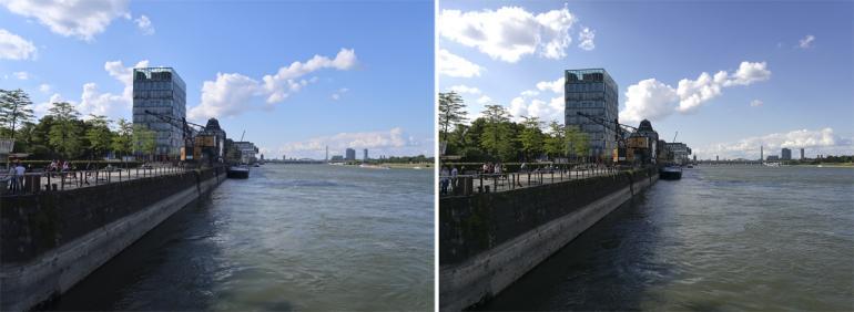Links: Canon, rechts: Huawei