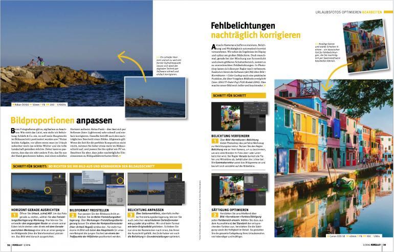 Wie Sie Urlaubsfotos optimieren finden Sie in der neuen FotoEASY ab Seite 99.