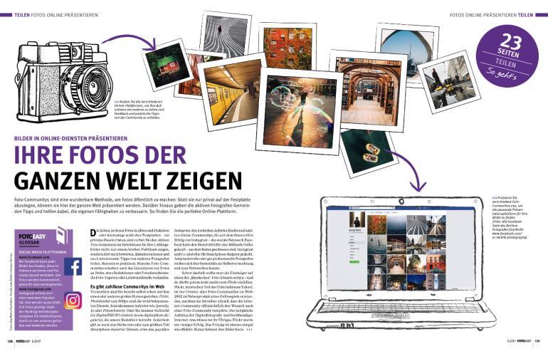Bilder in Online-Diensten veröffentlichen