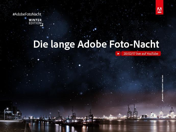 Die lange #AdobeFotoNacht ist zurück – Die Winter-Edition live aus Hamburg