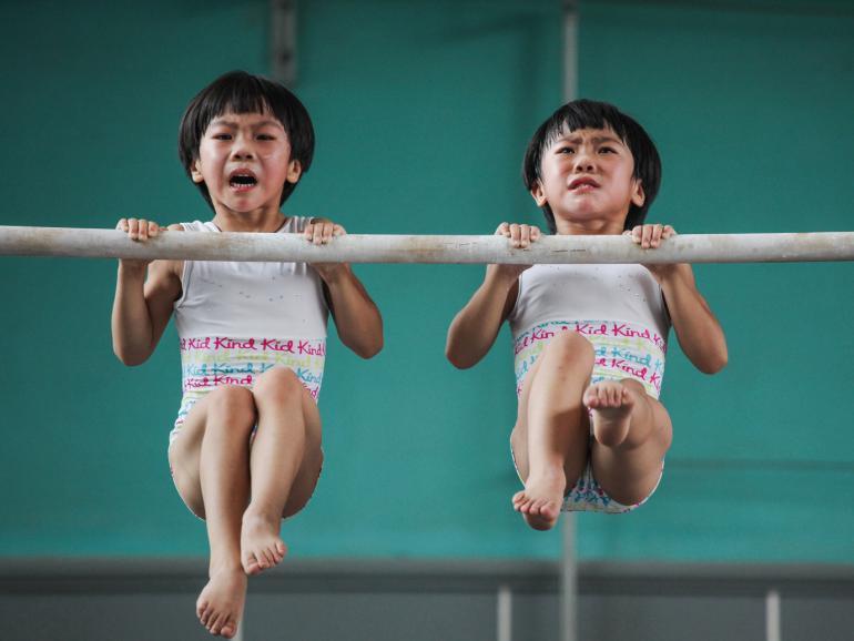 The twins' gymnastics dream