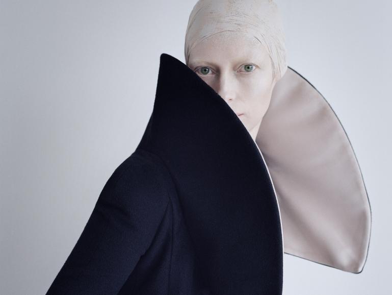 Aufnahmen von Tilda Swinton – britische Schauspielerin, Performance-Künstlerin und Model
