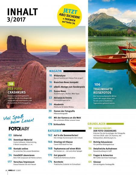 Sommer, Urlaub, FotoEASY - die neue Ausgabe ist da!