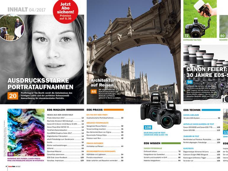 Inspiration, Praxis-Tipps, Kamera-Wissen: die neue CanonFoto 4/2017 ist da!